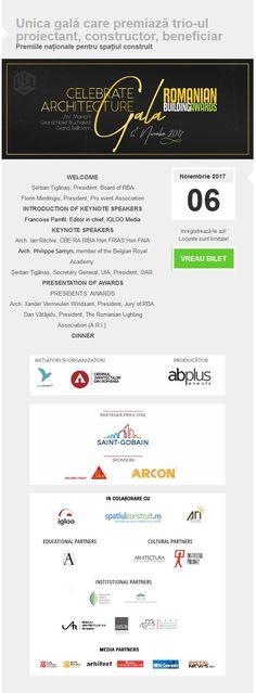 Invitatie la Gala RBA, 6 noiembrie 2017, JW Marriott Grand Hotel