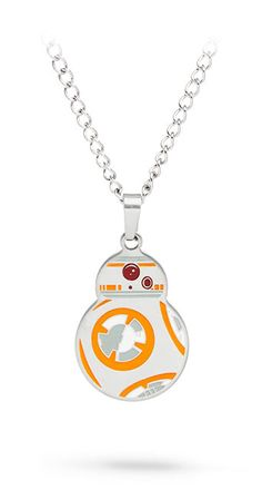 This Star Wars Episode VII Matte Pendant is cute and is made of stainless steel on a chain. Star Wars Jewelry, Geek Jewelry, Star Wars Birthday, Birthday List, Things I Need To Buy, Piercing, Star Wars Merchandise, Star Wars Droids, Episode Vii