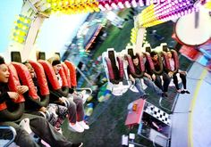 Riders, from left, Trequez White, 14, Zykivia Beckham, 15, Jazmine Beckham, 13, Isaiah Rodriguez, 11, Carlos Rodriguez, 14 and Maleah Yancey, 13, get flipped upside down and spun around on the Spin-Out | Victoria Advocate - Victoria, TX Showing Livestock, Spin Out, Photos Of The Week, First Night, Beckham, Spinning, Victoria, Hand Spinning, Indoor Cycling