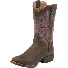 Justin Boots Brown Rawhide Cowgirl Boots I want!