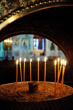 Church in Athens, Greece ✔zϮ Church Candles, Places In Greece, Greek Culture, Athens Greece, Place Of Worship, Bokeh Photography, Beautiful Places To Visit, Ancient Greece, Kirchen