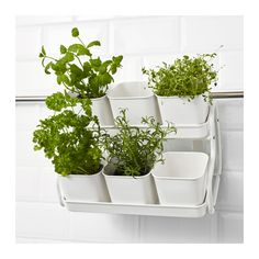 SOCKER Plant pot with holder, indoor/outdoor, white