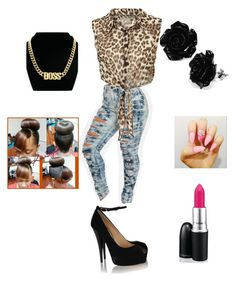 """Cheetah print-Black-Pink"" by alaysiaaaaaa ❤ liked on Polyvore featuring Giuseppe Zanotti"