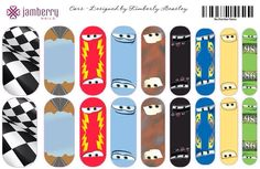Cars Inspired Jamberry Nail Wraps made with NAS - I know 2 little boys (plus one Mummy) who would LOVE these! Jamberry Disney, Jamberry Nas, Disney Nails, Jamberry Nail Wraps, How To Do Nails, Fun Nails, Jamberry Australia, Jamberry Style, Fashion Show Party