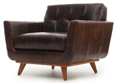 Nixon Leather Chair - Thrive Furniture.   Looks modern AND classic, my favorite combination!