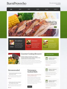 recipes food and cooking blog theme