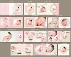 0340 10x10 Photoshop PSD Book Album Shabby Chic Template - Clara - Perfect for Wedding, Baby, Engagement - Exact Size, Whcc or Mpix via Etsy