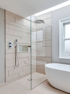 shower room tiles design. Wet Room Decor And Design Ideas perfect renovated bath with walk in shower  notice beam above