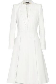 A-line crepe coat #jacket #women #covetme #alexandermcqueen