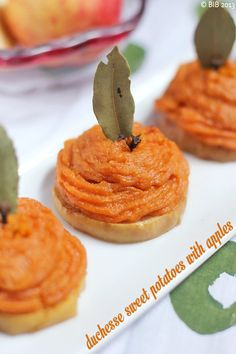 ROSH HASHANAH duchess sweet potato apples