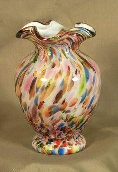Fenton Murrhina Multi-colored Vase