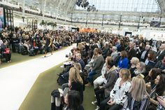 As the womenswear and menswear models fiercely and beautifully take to the main stage catwalk to showcase the fashion apparel and accessories from the various new and exclusive collections of the designers and brands on offer at Pure London AW17/18, the audience are mesmerized and daren't look away in fear of missing out. The seating was at full capacity leaving crowds of people to stand and shuffle around in order to get a good view Olympia London, Full Capacity, Aw17, Exclusive Collection, Nice View, Catwalk, Dolores Park, February, 18th