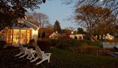 A weekend at the Cabot Cove cottages in Kennebunkport, Maine. You stay in a private cottage, and breakfast arrives at your door each morning. For the rest of the day, you hike to lighthouses, swim, sail, go whale-watching, drink wine in Adirondack chairs, and eat lobster for dinner.