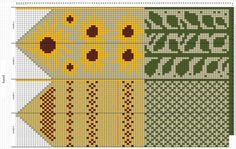 Варежки и носочки из Чердыни   VK Knitted Mittens Pattern, Mitten Gloves, Knitting Patterns, Crochet Chart, Crochet Stitches, Knit Crochet, Cross Stitch Bookmarks, Needlework, Knit Patterns