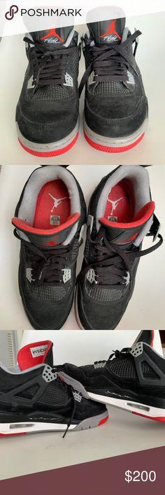 sports shoes a225e 5cf74 AIR JORDAN IV 4 RETRO BRED BLACK CEMENT RED GREY Nike Air Jordan IV 2012  Retro