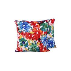 NOVICA Handmade Pair of Floral Cotton Cushion Covers from India ($36) ❤ liked on Polyvore featuring home, home decor, throw pillows, cushion covers, pillows & throws, floral home decor, novica home decor, floral throw pillows, flower stem and floral accent pillows