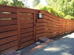 Beautiful custom redwood fence in Moraga built by the A&J crew. www.AandJFencing.com