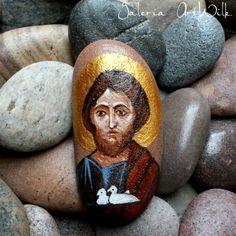 Kamień ręcznie malowany