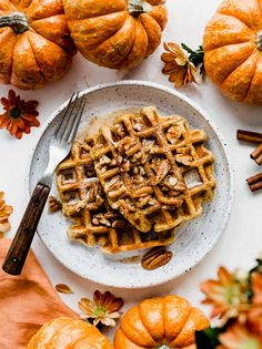 Best Waffle Recipe, Waffle Recipes, Pumpkin Waffles, Pumpkin Puree, Fall Breakfast, Breakfast Recipes, Butter Pecan Syrup, Waffle Ingredients, How To Make Waffles