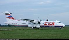 ATR 72-202, Czech Airlines, OK-XFD, cn 303, 64 passengers, first flight 15.4.1992, Czech Airlines delivered 22.5.1992, next Helitt Líneas Aéreas (delivered 14.7.2011). Stored. Foto: Bratislava, Slovakia, 8.6.2002. Atr 72, Bratislava Slovakia, Vehicles, Car, Vehicle, Tools