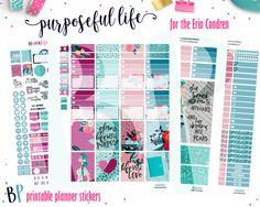 Purpose Weekly Kit // Erin Condren // Printable Planner Stickers // Cut Line Files // Planner Printable // Coffee by BEaYOUtifulPlanning on Etsy
