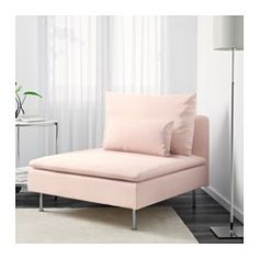 IKEA - SÖDERHAMN, One-seat section, Samsta light pink, , Durable microfiber which is soft and smooth.SÖDERHAMN seating series allows you to sit deeply, low and softly with the loose back cushions for extra support.The cover is easy to keep clean as it is removable and can be machine washed.The various sections of the seating series can be connected together in different combinations or used separately.You can sit in comfort with a slight, pleasant resilience thanks to the elastic weave in…