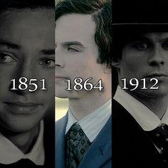 #TVD The Vampire Diaries  Damon in 1851,1864 & 1912(I think?)