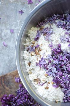 3 recipes for lilac blossoms   lilac blossom almond scones