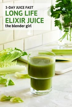 Sleep Elixir Green Juice from the 3 Day Juice Cleanse – The Blender Girl Long Life Elixir Green Juice – Looking for juice fast cleanse recipes? This green juice is perfect for a summer detox to prepare the body for sleep. 3 Day Juice Cleanse, Juice Cleanse Recipes, Detox Recipes, Detox Tips, Blender Recipes, Body Cleanse, Juice Fast Recipes, Jelly Recipes, Healthy Recipes