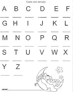 Alphabet Writing Practice, Cursive Writing Worksheets, Alphabet Tracing Worksheets, Printable Alphabet Letters, Kids Math Worksheets, Preschool Writing, Preschool Lessons, Nursery Worksheets, English Lessons For Kids