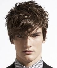 Young layered men haircuts with long wavy bang,  Go To www.likegossip.com to get more Gossip News!