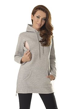 Maternity & Nursing Hoodie Pregnancy Breastfeeding 9050 Variety Of Colours Light Gray) Maternity Nursing, Maternity Tops, Maternity Wear, Pregnancy Wardrobe, Bump Style, Baby Family, Hoodies, Sweatshirts, Breastfeeding