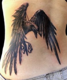 Black Raven Tattoos Bird Rose Designs Flower Inspirational - hubbys raven tattoo