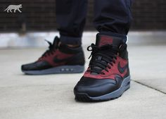 http://www.favortrend.com/category/nike-air-max/ Nike Air Max 1 Mid Deluxe via asphaltgold Buy it @ asphaltgold | Nike US