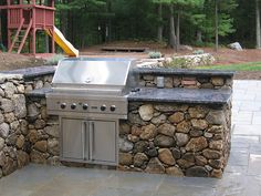 8 - Outdoor Kitchen Stone Grill