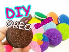 DIY OREO Rainbow Eraser 오레오 쿠키 무지개 지우개 만들기 놀이 장난감