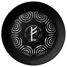 Fehu - Rune of Luck & Prosperity Plate - home gifts ideas decor special unique custom individual customized individualized
