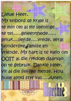 Dankie Heer, vir al die wonderlike mense in my lewe - hou hulle altyd styf vas - Amen. Vinyl Quotes, Bible Quotes, Bible Verses, Scriptures, Bible Emergency Numbers, Evening Greetings, Afrikaanse Quotes, Good Morning Wishes, Faith In God