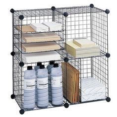 """Safco Products Wire Cube Shelving System 5"""" Cube Unit Bookcase"""