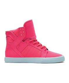 Another great find on #zulily! Pink Skytop Hi-Top Sneaker - Women by SUPRA #zulilyfinds