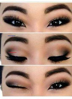 Ideen Make-up Asian Prom Smoky Eye - Prom Makeup Looks Asian Eye Makeup, Dramatic Eye Makeup, Eye Makeup Steps, Dramatic Eyes, Natural Eye Makeup, Natural Eyes, Smokey Eye Makeup, Smoky Eye, Black Makeup