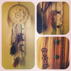 Jesse said he wanted a dream catcher once so this is something I could make him for christmas!