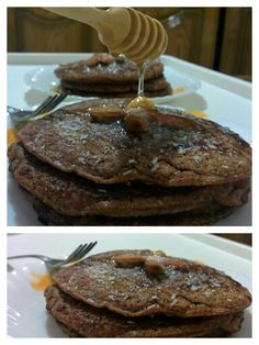 #oats and #almond #pancakes