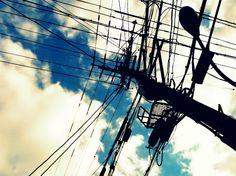 電柱と空道