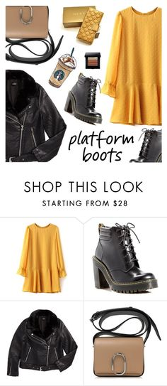 """""""Stylish boots"""" by nastenkakot ❤ liked on Polyvore featuring Dr. Martens, Topshop and Gucci"""