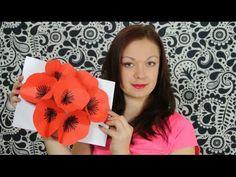Květinové přání 3D - přání nejen k narozeninám - DiY - YouTube