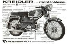 Kreidler Florett Triumph Motorcycles, Cool Motorcycles, Vintage Motorcycles, Scooters, Motocross, Holland Bike, Mopar, Moped Motorcycle, Classic Motorcycle