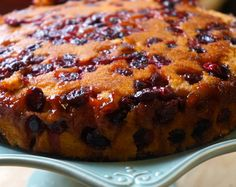 Cranberry Upside Down Cake - http://www.gemsliving.com/cranberry-upside-down-cake/
