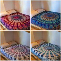 Cheap Christmas Gift - Set of 4 Mandala Tapestries Bohemian Queen Bedding