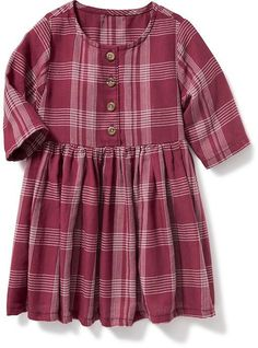 Plaid Fit & Flare Dress for Baby